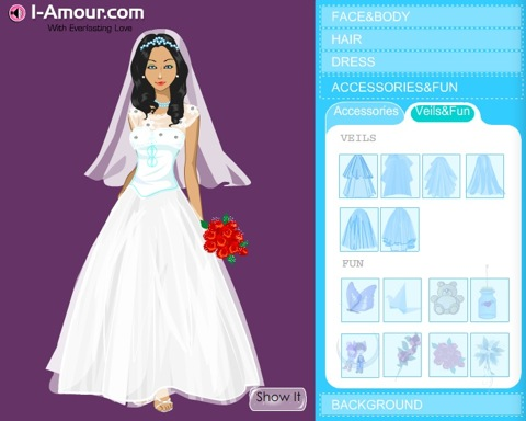 design your own wedding dress games free