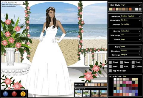 Design Your Own Wedding Dress Online Game - Overlay Wedding Dresses