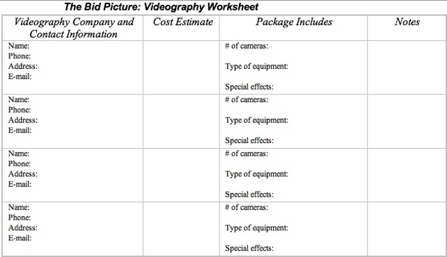 Wedding Videography Tips